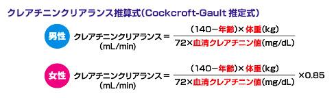 クリアランス 計算 式 クレアチニン CCr